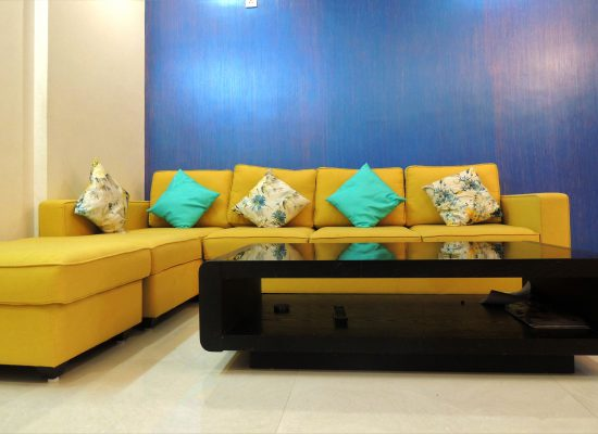 foyer2attic interior designers bangalore - living room sofa