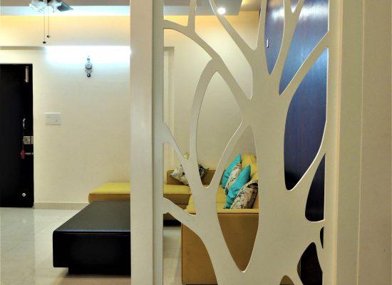 foyer2attic interior designers bangalore - partition