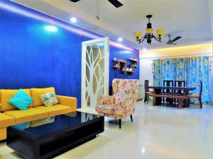 foyer2attic interior designers bangalore - living and dining areas