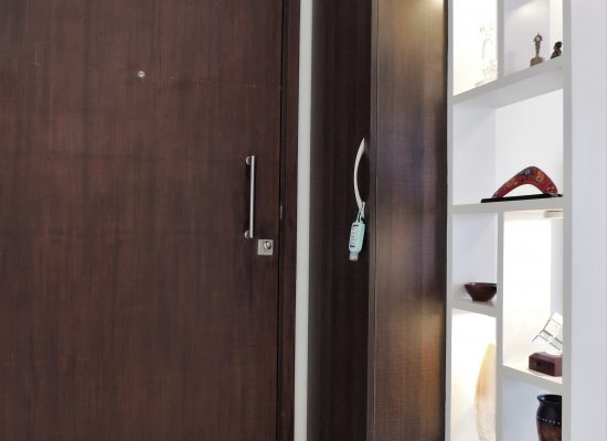 Foyer Shoe Rack & Display Partition