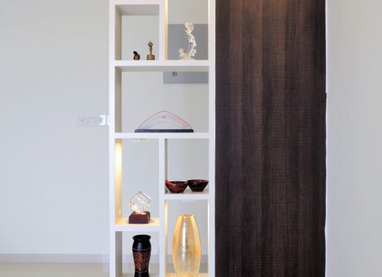 display partition in foyer