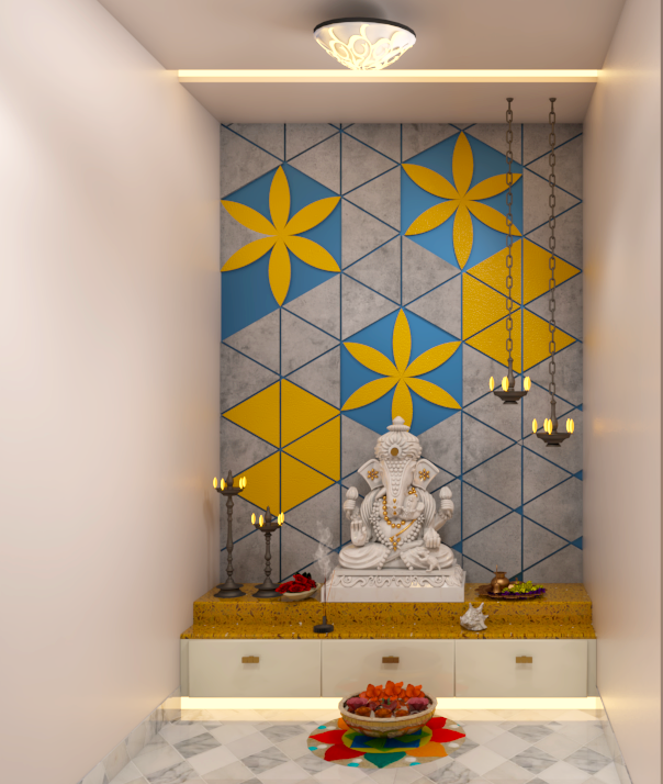 new age puja room design
