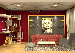glamour glitz bling entertainment room