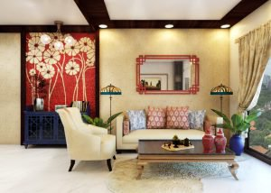 traditional marries modern living room